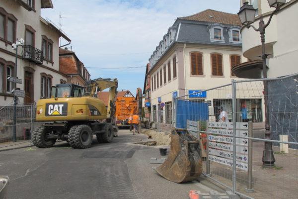 Information travaux d'eau potable – Carrefour rue de Strasbourg, Mercière et Capitaine barré à la circulation