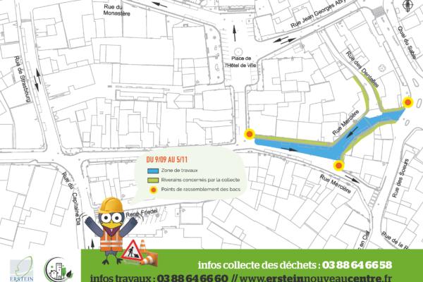 Ramassage des ordures ménagères Rue Mercière et Rue des Dentelles