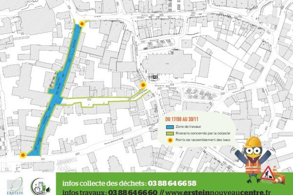 Ramassage des ordures ménagères rue Brûlée et rue Jean-Philippe BAPST