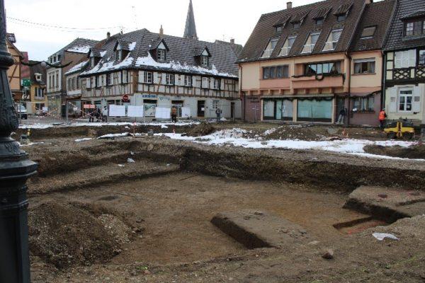 Avancement des fouilles