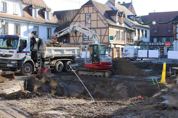 Poursuite des travaux Place de l'Hôtel de Ville