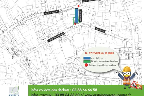 Ramassage des ordures ménagères rue Mercière (Caisse d'Epargne à Krys)