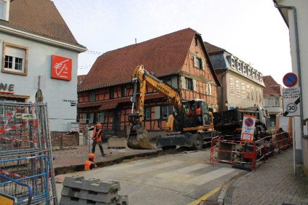 Avancement des travaux rues Mercière, Brûlée et Vieux Marché