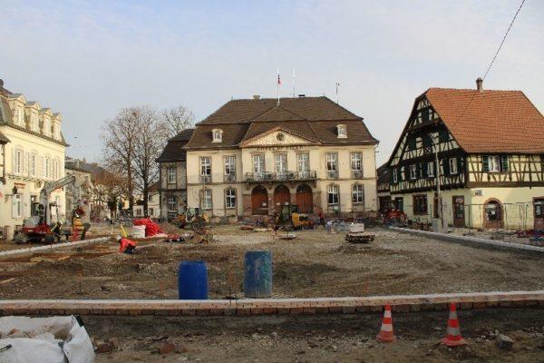 Avancement des travaux Place de l'Hôtel de Ville