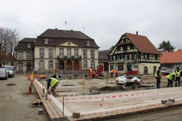 Travaux d'aménagement de la place de l'Hôtel de Ville