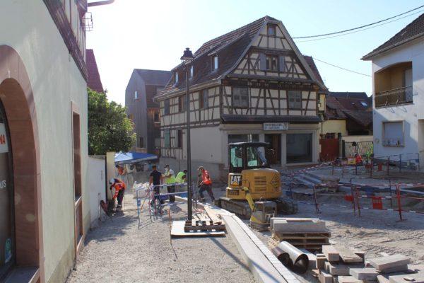 Poursuite des travaux d'aménagement descente rue Jean-Georges Abry