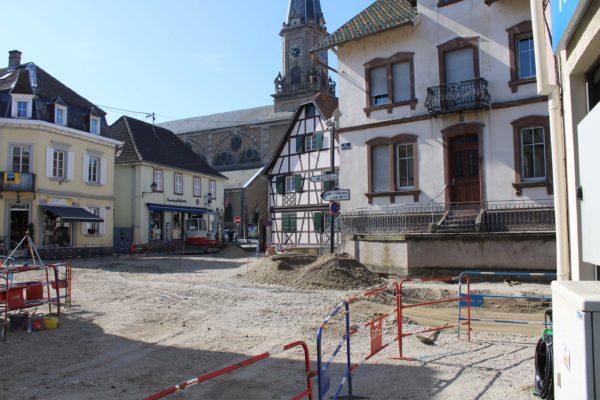 Travaux d'aménagement de voirie du carrefour des rues du Capitaine Da, Mercière et Strasbourg
